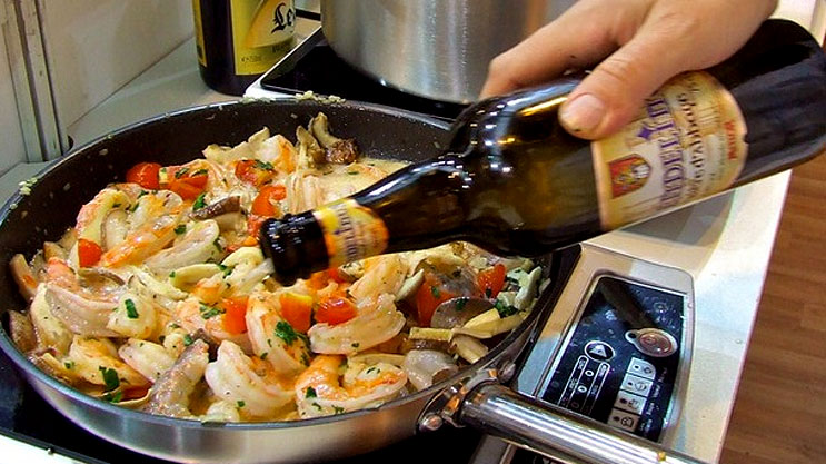 Cuisiner avec de la bière